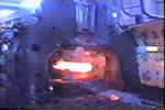 开坯锤工作状态-西宁特钢厂