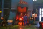拉斯科HO-U1250型125KJ电液锤操作现场