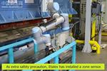 优傲机器人应用在板材加工