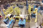 配4台工业机器人的金属管材自动化折弯单元