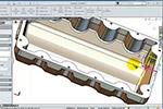 SolidWorks 车:油底壳(发动机)